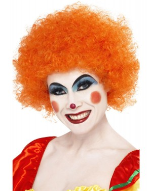 Orange Clown Afro at Fancy Dress and Party