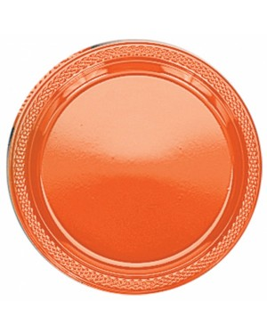 Orange Plastic Plates at Fancy Dress and Party