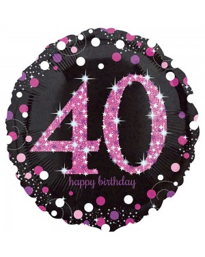Pink 40th Birthday Balloon at Fancy Dress and Party