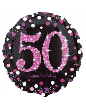 Pink 50th Birthday Balloon at Fancy Dress and Party