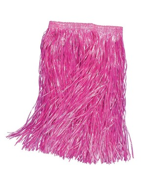 Pink Grass Skirt at Fancy Dress and Skirt