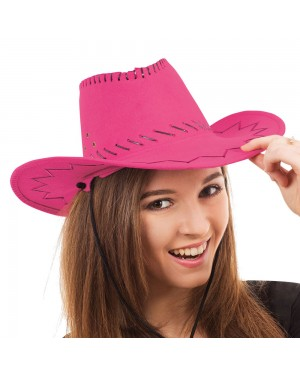 Pink Stitched Cowgirl Hat at Fancy Dress and Party
