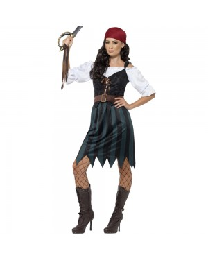 Pirate Deckhand Costume Front View at Fancy Dress and Party