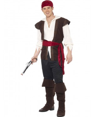 Pirate Man Costume at Fancy Dress and Party