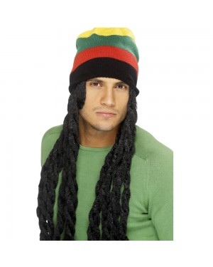 Rasta Hat with Dreads at Fancy Dress and Party