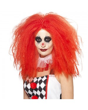 Red Curly Wig at Fancy Dress and Party