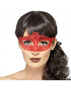 Red Lace Eyemask at Fancy Dress and Party