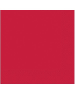 Red Napkins Pack of 50 at Fancy Dress and Party