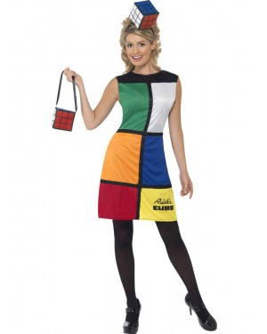 Rubiks Cube Costume Front View at Fancy Dress and Party
