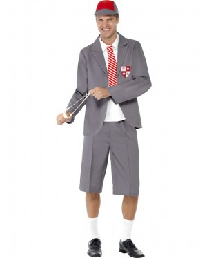 School Boy Costume Front at Fancy Dress and Party