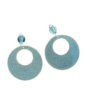 Silver Glitter Earrings at Fancy Dress and Party