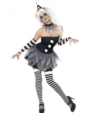 Sinister Clown Costume at Halloween Fancy Dress and Party