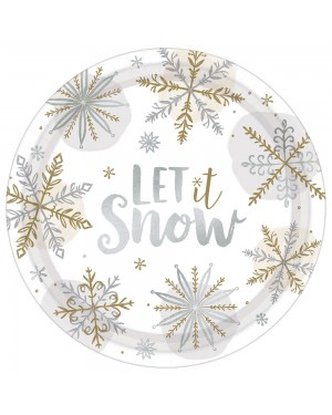 Snowflake Paper Plates at Fancy Dress and Party