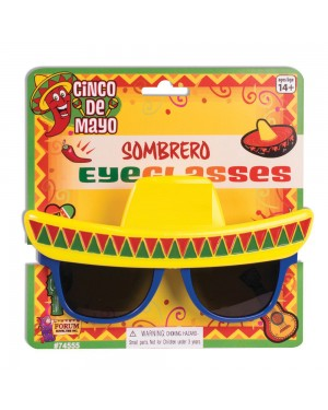 Sombrero Sunglasses at Fancy Dress and Party