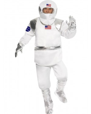 Spaceman Costume Front View at Fancy Dress and Party