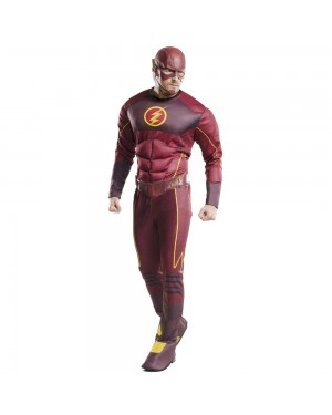 The Flash Deluxe Costume at Fancy Dress and Party