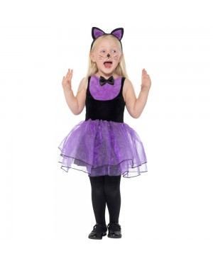 Toddlers Cat Dress Front View at Fancy Dress and Party