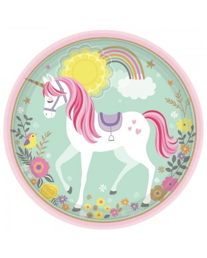 Unicorn Paper Plates at Fancy Dress and Party