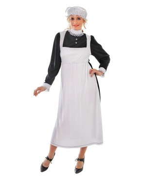 Victorian Maid Costume Front at Fancy Dress and Party