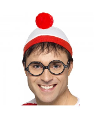 Where's Wally Hat and Glasses at Fancy Dress and Party