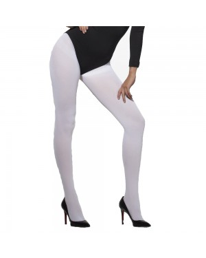 White Opaque Tights at Fancy Dress and Party