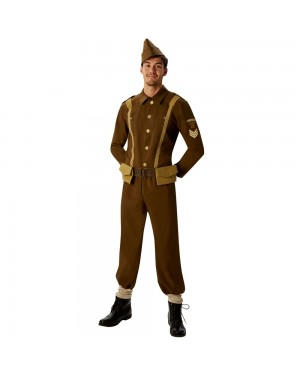 WW2 Soldier Costume at Fancy Dress and Party