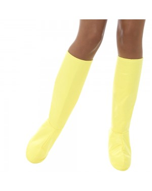 Yellow Boot Covers at Fancy Dress and Party