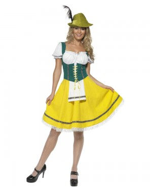 Yellow Oktoberfest Costume Front at Fancy Dress and Party