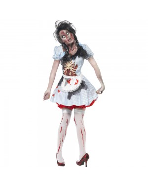 Zombie Country Girl Costume Front View at Fancy Dress and Party