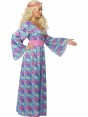 60s Maxi Hippy Costume Side at Fancy Dress and Party