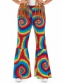 60s Tie Dye Flares at Fancy Dress and Party Closeup