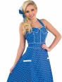 Blue 50s Dress at Fancy Dress and Party Close