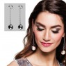 Disco Ball Earrings Packaging View at Fancy Dress and Party