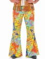 Floral 60s Flares at Fancy Dress and Party Closeup