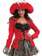 Glitzy Pirate Costume at Fancy Dress and Party Closeup