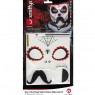 Mens Day of the Dead Make Up Kit Packaging View at Fancy Dress and Party