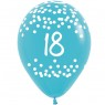 Multi Coloured 18th Birthday Balloons Blue Balloon at Fancy Dress and Party