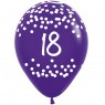 Multi Coloured 18th Birthday Balloons Purple Balloon at Fancy Dress and Party