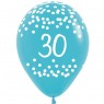 Multi Coloured 30th Birthday Balloons Blue Balloon at Fancy Dress and Party