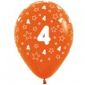 Multi Coloured 4th Birthday Balloons Orange Balloon at Fancy Dress and Party