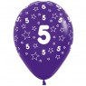 Multi Coloured 5th Birthday Balloons Purple Balloon at Fancy Dress and Party