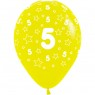 Multi Coloured 5th Birthday Balloons Yellow Balloon at Fancy Dress and Party