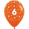 Multi Coloured 6th Birthday Balloons Orange Balloon at Fancy Dress and Party