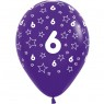 Multi Coloured 6th Birthday Balloons Purple Balloon at Fancy Dress and Party