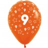 Multi Coloured 9th Birthday Balloons Orange Balloon at Fancy Dress and Party