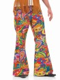 Psychedlic 60s Flares at Fancy Dress and Party Closeup