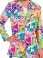 Psychedelic 60s Suit Costume at Fancy Dress and Party Closeup