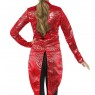 Red Womens Tailcoat Back View at Fancy Dress and Party