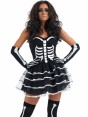 Tutu Skeleton Costume at Fancy Dress and Party Closeup