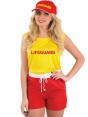 Yellow Lifeguard Costume Close View at Fancy Dress and Party